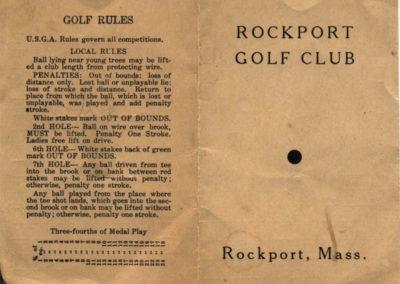 Scorecard 1951 Front